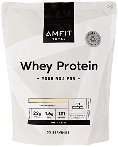 Marchio Amazon - Amfit Nutrition Proteine del Siero di Latte in Polvere 1kg - Vaniglia (precedentemente marchio PBN)