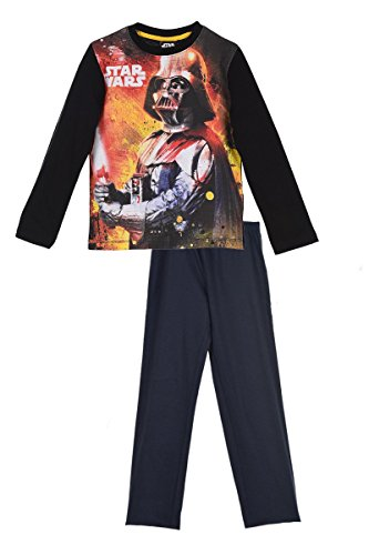 Star Wars Darth Vader/Yoda/Stormtrooper Langarm Schlafanzug Pyjama lang Baumwolle (114-6 Jahre, Darth Vader / EP2168)