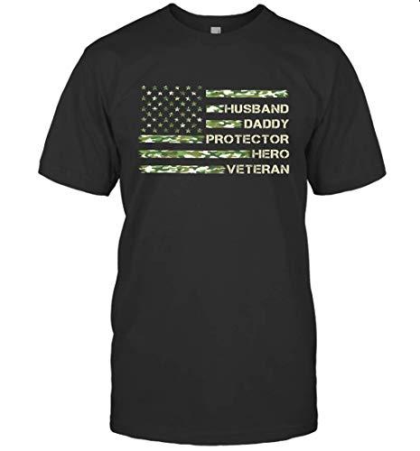 Dilostyle Husband Daddy Protector Hero Veteran Shirt 98 T-Shirt (Black;XL)