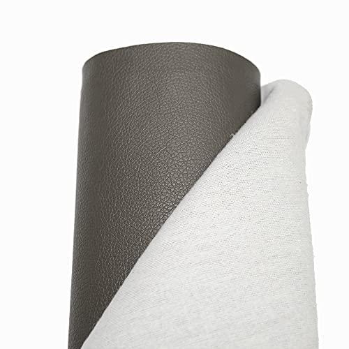 Polipiel para tapizar ideal para manualidades y bricolage (Gris Oscuro, 100 cm x 25 cm)