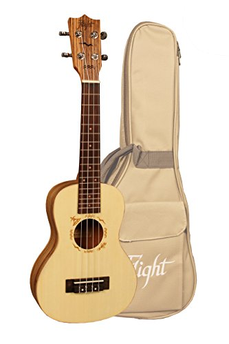 Flight DUC 525 Designer Series - Ukelele de concierto de madera de cebra, con bolsa