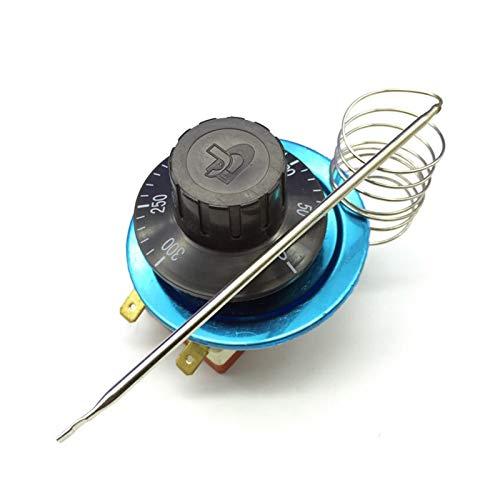 YSJJSQZ Interruptor Giratorio Controlador de Temperatura Giratorio AC220V 16A Termostato Termostato Interruptor de Control de Temperatura para Horno eléctrico 50-300 Grados Celsius
