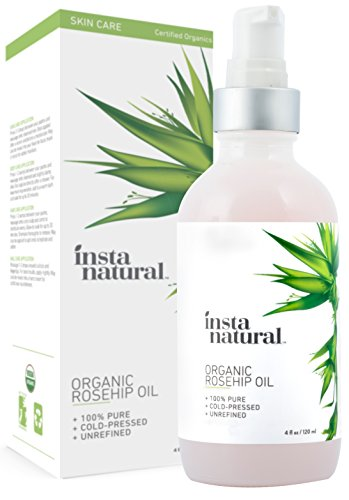 Organic Rosehip Seed Oil - 100% Pure, Unrefined Virgin Oil - Natural Moisturizer for Face, Skin,...