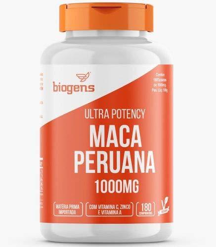 Ultra Potency Maca Peruana, 1000mg, Biogens, 180 Tabletes Vegan