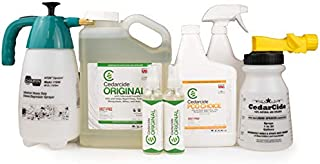 Cedarcide Indoor/Outdoor Kit (Medium) Contains Original Biting Insect Spray Quart + PCO Choice Cedar Oil Concentrate Lawn Bug Spray Kills and Repels Fleas, Ticks, Ants, Mites, and Mosquitoes