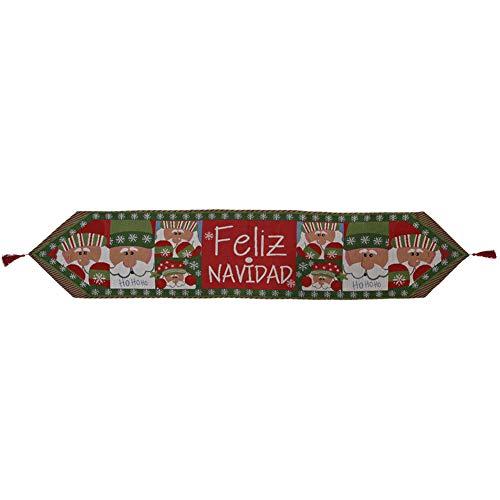 MIFASA Weihnachten Tischläufer, Weihnachten Tischdecke, Sackleinen Baumwolle Tischläufer für Weihnachtsfeiertag Geburtstag