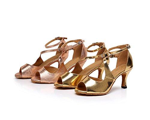 MINITOO ,  Damen Tanzschuhe, Gold – Rose/Gold-7.5cm Heel – Größe: 39 - 4