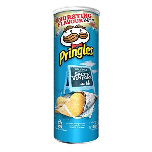Pringles Salt and Vinegar Crisps 165 gr. - [Pack 3]