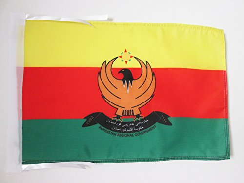 AZ FLAG Flagge ROJAVA 45x30cm mit Kordel - WESTKURDISTAN Fahne 30 x 45 cm - flaggen Top Qualität