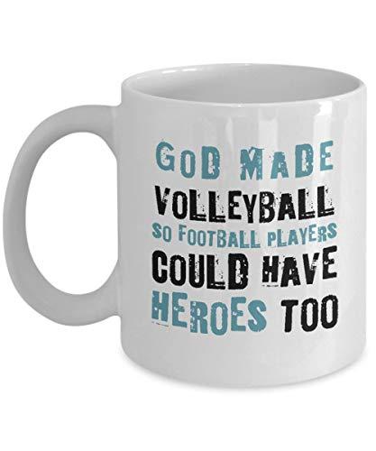 Egoa koffiemok volleybalspeler god machte volleybal, zodat voetballer Helden Haben Konnten beste voetballiefde keramische beker porseleinen mok grappige thee houdbaar nieuw kantoor