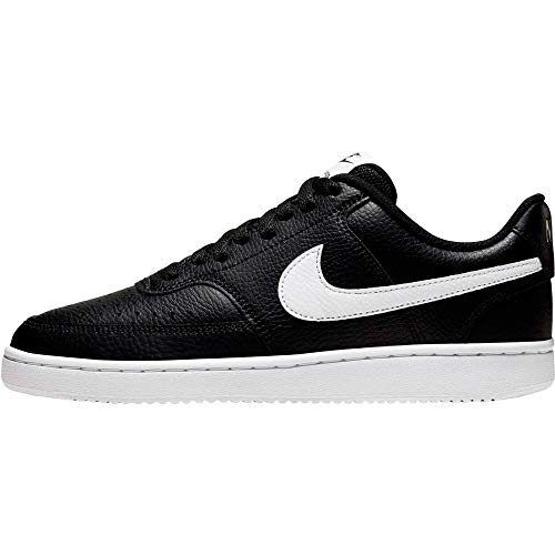 Nike Damen Court Vision Low Sneaker, Black/White, 39 EU
