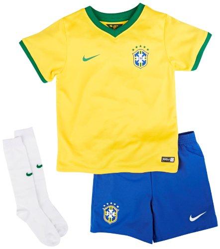 2014-15 Nike Brazil Home World Cup Mini Kit (Medium)