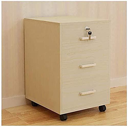 Armadietto per archiviare documenti da pavimento mobile, semplice per la casa, in legno, con serratura e schedario, per ufficio, libreria (colore: #2)