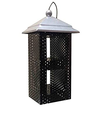 FixtureDisplays Metal Mesh Sunflower Seed Bird Feeder with Roof 1374-2