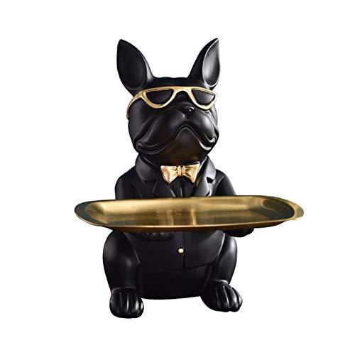 KHUY Vaciabolsillos Moderno, Organizador de Llaves de Bolsillo Organizador Estreno, Key Teléfono Monedero de Cambio Relojes y Puerta Entrada Bandeja de Caramelo (Color : Black)