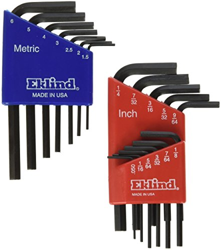 Eklind 10518 Metric & Standard 18pc Hex Key Set - Short