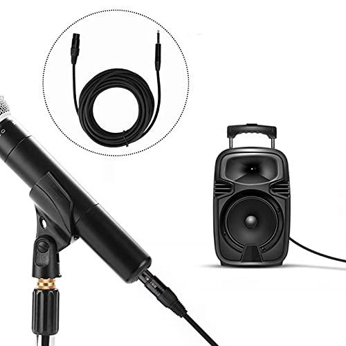 DAUERHAFT Adaptador de Audio Adaptador de Cable Negro a XLR Hembra, para Tarjeta de Sonido(10 Meters)