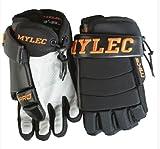 Mylec Mk5 Pro Player Glove - Lightweight Classic 3-Roll Design with Enhanced Grip, Compatible with Hockey-Black/Orange(13-Inch)
