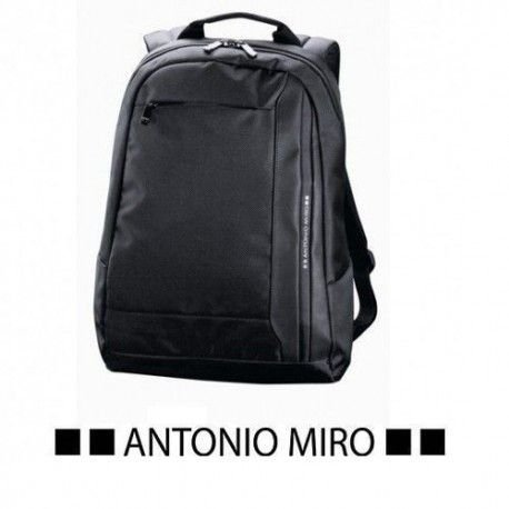 Mochila ANTONIO MIRO con acolchado para Portátil, parte trasera y cintas Acolchadas- Poliester 1680D