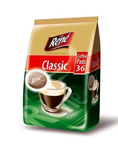 Philips Senseo Luxury Caf? Rene Crem? Regular Roast Coffee Pads Pods Bag 252 g (Pack of 3, Total 108 Coffee Pads