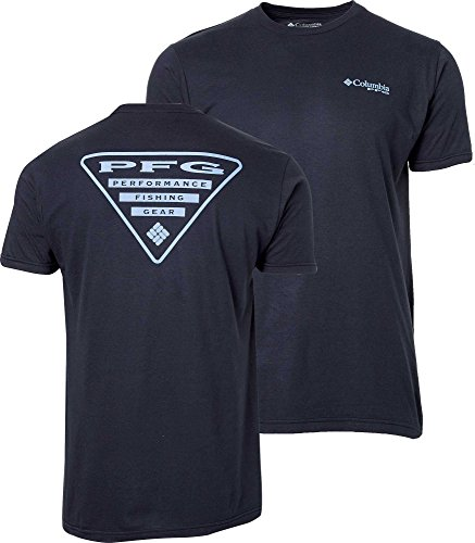 Columbia Men's PFG Triangle T-Shirt Navy, Large