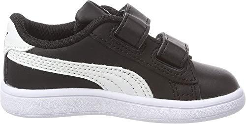 Puma Unisex-Kinder Smash v2 L V Inf Sneaker, Schwarz Black White, 26 EU