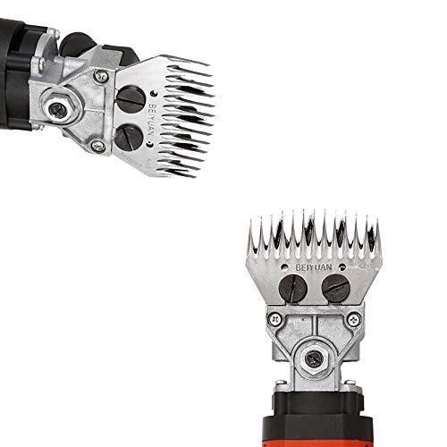 Sinbide Kit 2 para Esquiladora de Ovejas Diente de Cortador 9/13 Recto/Curvado Accesorios de Cortadora de Cabra Eléctrica Reemplazables Cuchillas de Recambio para Esquiladora (B)