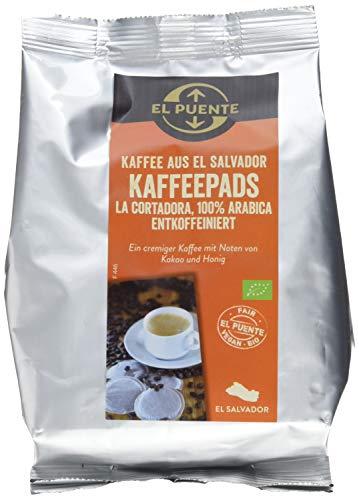 El Puente Kaffeepads El Salvador, entkoffeeiniert, kbA, 5er Pack (5 x 126 g)