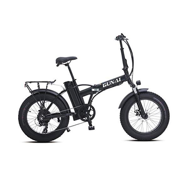 410gHe25dsL. SS600  - GUNAI Elektrofahrräder 500W,20 Zoll Faltbare Mountain Snow E-Bike Rennrad mit Scheibenbremsen 7 Geschwindigkeit