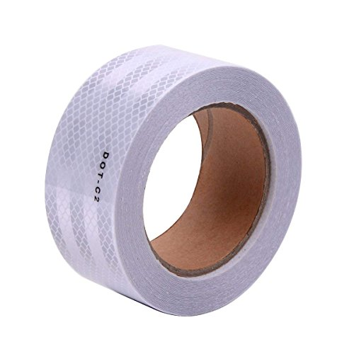 White DOT-C2 Conspicuity Reflective Tape - 2' Inch X 50' Feet
