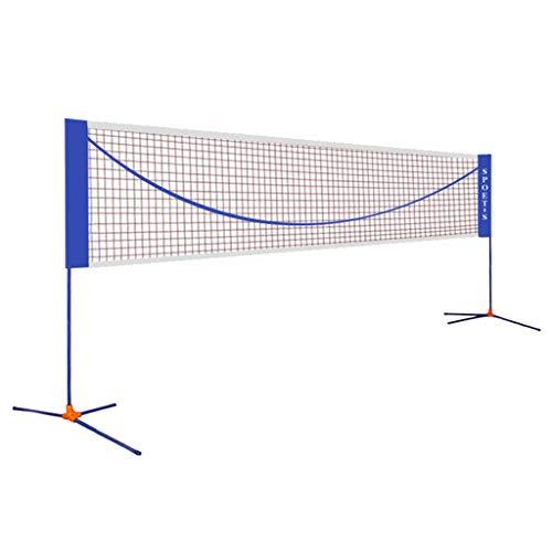 Tennis net Nets Folding Tennis Stand Simple Folding Badminton Net Portable Standard Outdoor Game Net Column Home Ball Rack Best Gift (Color : Blue, Size : Net Width=610cm)