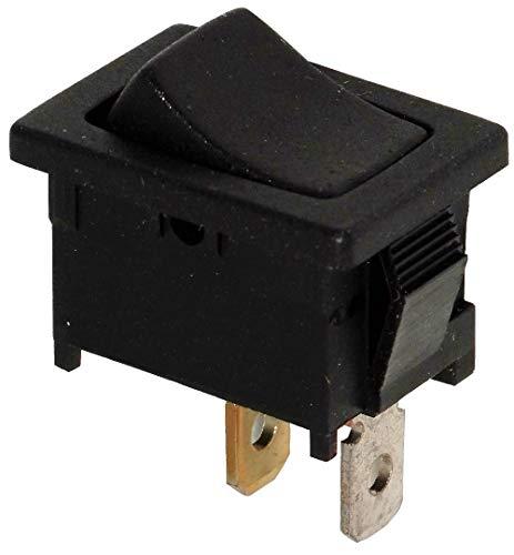 Aerzetix: Knopfschalter Switch Kippschalter Druckschalter SPST ON-OFF 10A/250V 16A/12V Schwarz 2 Positionen