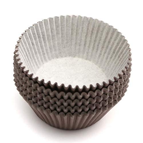 PRENKIN 100pcs della Torta di Cottura oleata Tazza di Carta di Cioccolato Vassoio Mat Pastry Wrapper Cup Fai da Te Dessert Caso Contenitore Decorazione di Compleanno