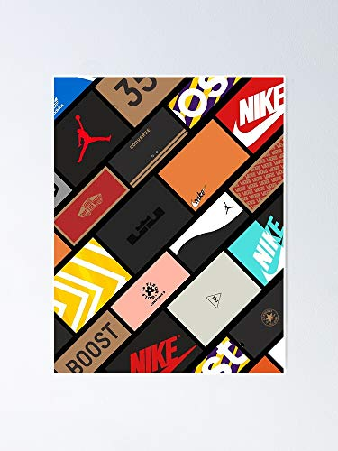 AZSTEEL Sneakers Boxs Collage Poster Best Gift for Mothers Day