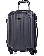 ITACA - Juego Maletas de Viaje 4 Ruedas Trolley ABS. Extensibles Rígidas Resistentes y Ligeras. Mango Asas Candado. Pequeña Cabina Low Cost, Mediana y Grande. T71500
