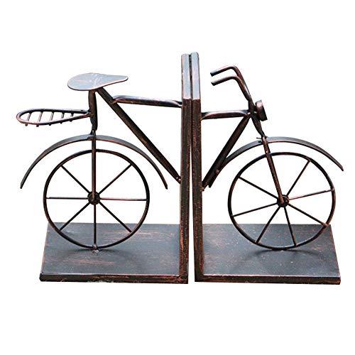 Soldmore7 boekenuiteinden ondersteund, vintage-stijl fiets boekensteun lezen boekenkast bibliotheek decor