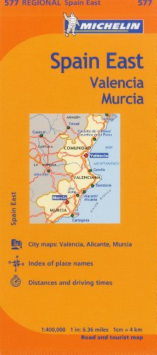 Michelin Spain: East, Valencia Murcia Map 577