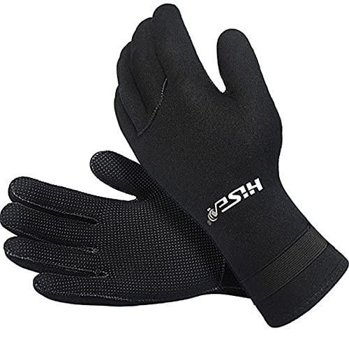 ZFFLYH - Guantes de buceo de neopreno de 3 mm para hombre y mujer, guantes de buceo en frío, cálido y resistente a los arañazos