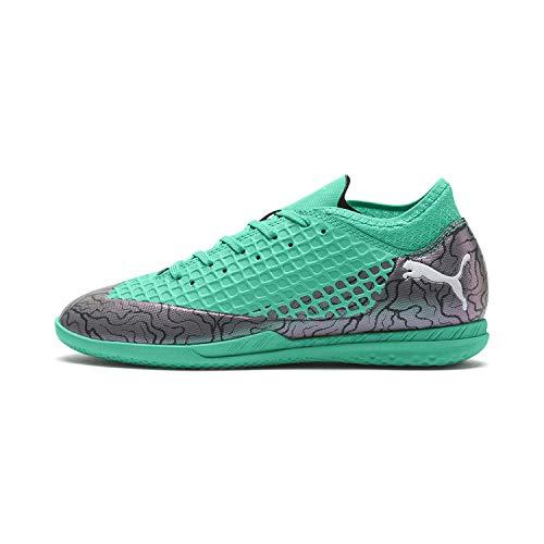 PUMA Kid's Future 2.4 IT Jr Athletic Shoe, Color Shift-Biscay Green-puma White-puma Black, 4 M US Big Kid