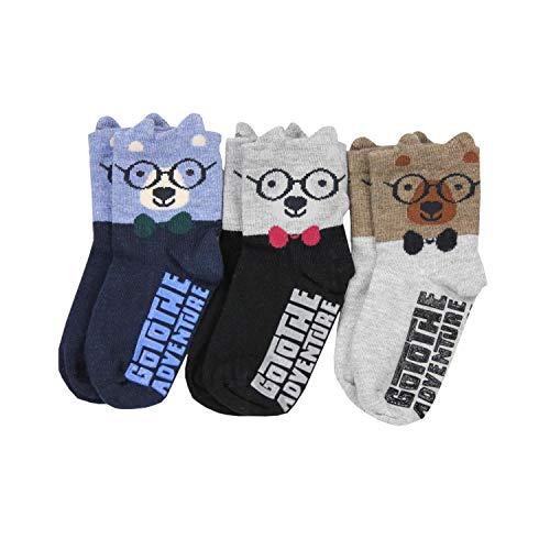 TupTam Baby Jungen Socken mit ABS Noppen 3er Pack, Farbe: Farbenmix 9, Socken Größe: 21-23