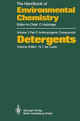 Detergents (The Handbook of Environmental Chemistry (3 / 3F))