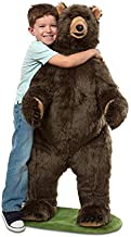 Melissa & Doug Giant Lifelike Plush Grizzly Bear Standing Stuffed Animal (Almost 4 Feet Tall, Great Gift for Girls and Boys - Best for 3, 4, 5 Year Olds and Up)