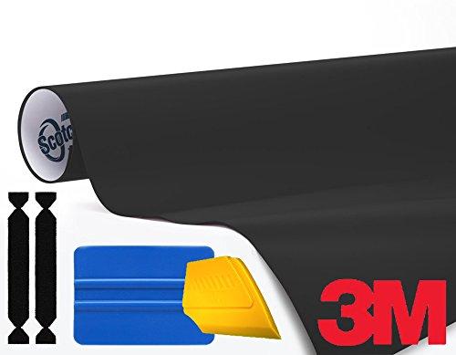 3M 1080Rollo de vinilo con liberación de aire con conjunto de herramientas, color negro mate