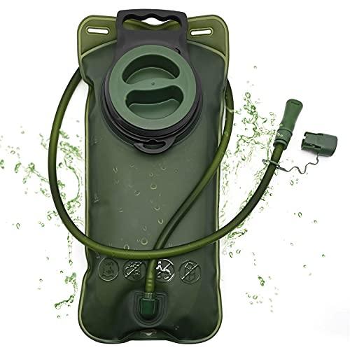 Vejiga de Hidratación, Depósito de Agua de 2 Litros, Paquete de Hidratación, Bolsa de Almacenamiento Plegable a Prueba de Fugas con tubo Aislado de Liberación Rápida para Senderismo, Ciclismo