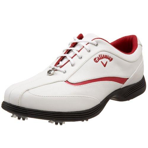 Callaway Women's Charms Golf Shoe,White/Red Sand,US Women's 8 M