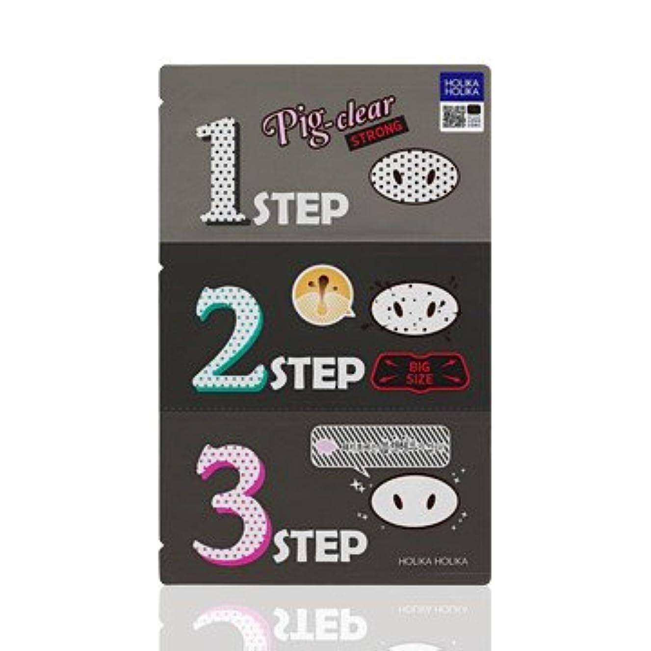 魅惑的なテクスチャー水曜日Holika Holika Pig Nose Clear Black Head 3-Step Kit 5EA