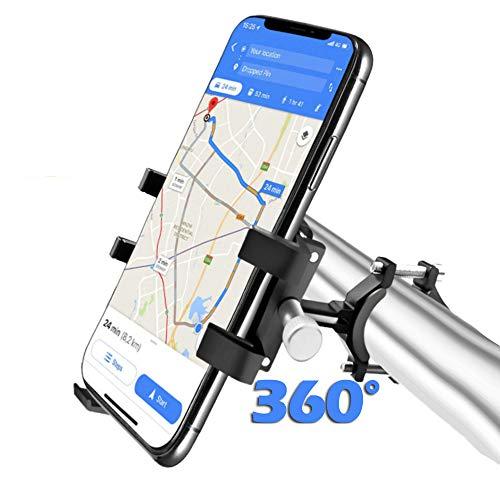 """Fahrrad Handyhalterung, Metall-Handyhalterung für Fahrrad/Mountainbike/Motorrad,Unterstützung 360 ° Bildschirm drehen Kompatibel mit iPhone, Samsung, Huawei, Google, etc.4 bis 8\""""Bildschirm Smartphone"""