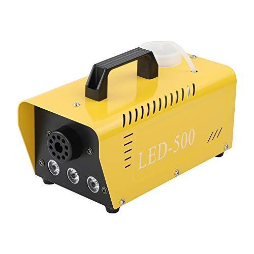 AIBOOSTPRO - Máquina de humo de 500 W, gran niebla, 2000 CFM, con luces LED, mando a distancia inalámbrico, para fiestas, bodas, vacaciones, Halloween, Navidad, efecto escenario (amarillo)