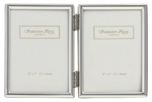 Addison Ross - Portafoto con Cornice e Doppia lastra in Argento, 5 x 8 cm