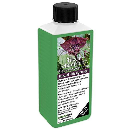 GREEN24 Fledermausblumen-Dünger HIGH-TECH Tacca chantrieri NPK Düngemittel für Fledermausblume, Teufelsblume, Fledermauspflanze, Dämonenblüte - Pflanzen düngen